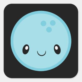Adesivo Quadrado Bola de boliche Emoji