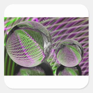 Adesivo Quadrado Bola de cristal no plástico
