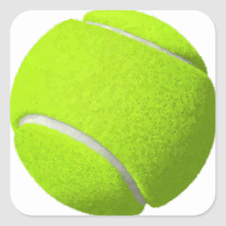Adesivo Quadrado Bola de tênis