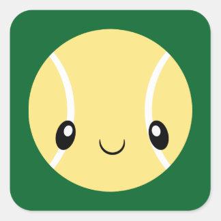 Adesivo Quadrado Bola de tênis de Emoji