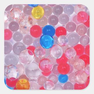 Adesivo Quadrado bolas da geléia