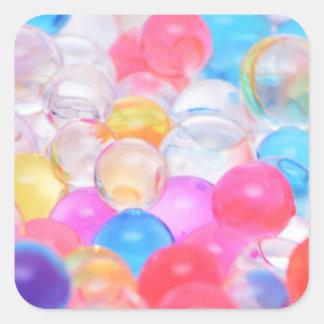 Adesivo Quadrado bolas transparentes