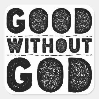 Adesivo Quadrado Bom sem deus