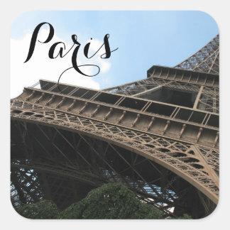 Adesivo Quadrado Bonjour do viagem europeu chique de Paris