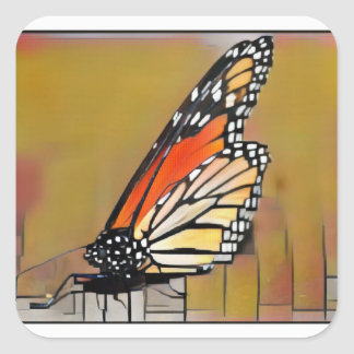 Adesivo Quadrado Borboleta de monarca