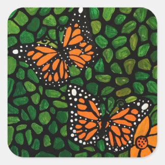 Adesivo Quadrado borboletas