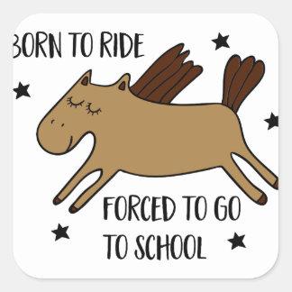 Adesivo Quadrado born to ride