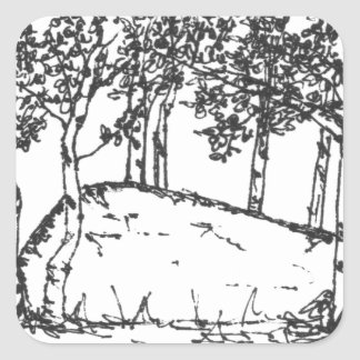 Adesivo Quadrado Bosque de Aspen