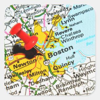 Adesivo Quadrado Boston, Massachusetts