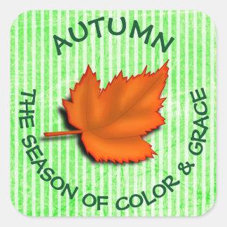 Adesivo Quadrado Botão das citações do outono