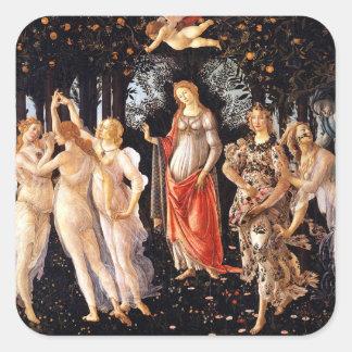 Adesivo Quadrado BOTTICELLI - Primavera 1482