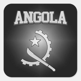 Adesivo Quadrado Brasão de Angola