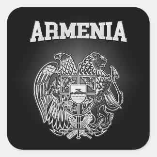 Adesivo Quadrado Brasão de Arménia