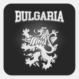 Adesivo Quadrado Brasão de Bulgária