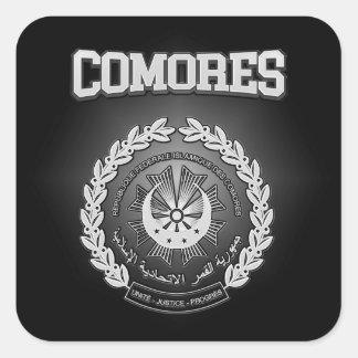 Adesivo Quadrado Brasão de Comores