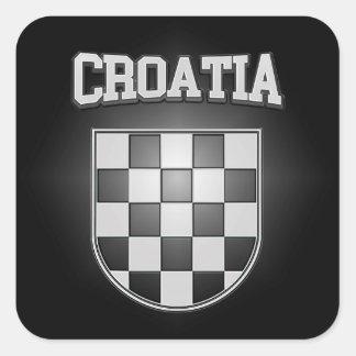 Adesivo Quadrado Brasão de Croatia