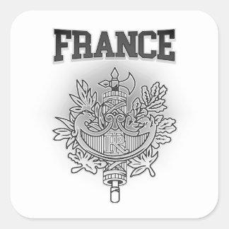 Adesivo Quadrado Brasão de France