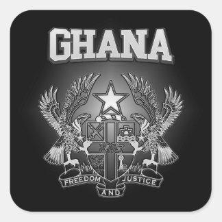 Adesivo Quadrado Brasão de Ghana