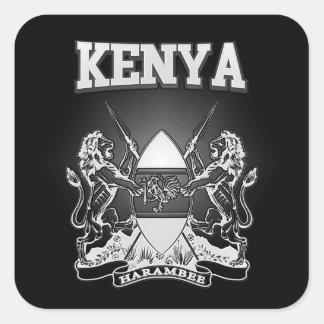 Adesivo Quadrado Brasão de Kenya