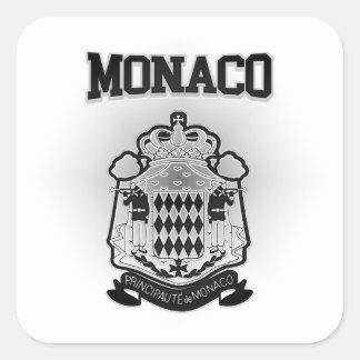 Adesivo Quadrado Brasão de Monaco