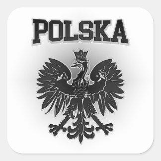 Adesivo Quadrado Brasão de Polska