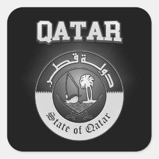 Adesivo Quadrado Brasão de Qatar
