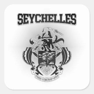 Adesivo Quadrado Brasão de Seychelles