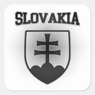 Adesivo Quadrado Brasão de Slovakia