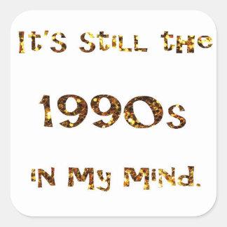Adesivo Quadrado brilho do ouro da nostalgia dos anos 90