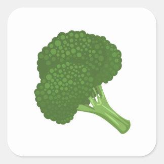 Adesivo Quadrado Brócolos da comida do pulso aleatório