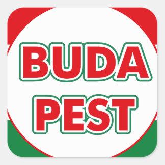 Adesivo Quadrado Budapest, circle, color