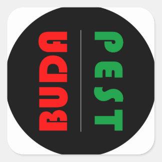 Adesivo Quadrado Budapest minimalist - circle - 01