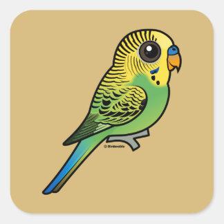 Adesivo Quadrado Budgerigar de Birdorable