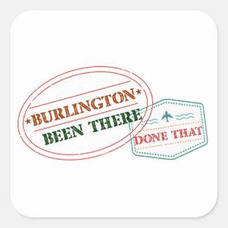 Adesivo Quadrado Burlington feito lá isso