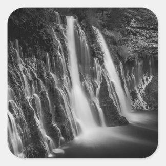 Adesivo Quadrado Burney cai em preto e branco