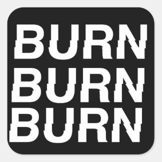 Adesivo Quadrado burnXburn