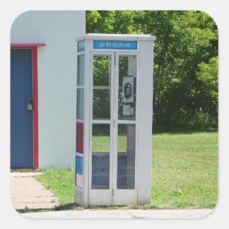 Adesivo Quadrado Cabine de telefone
