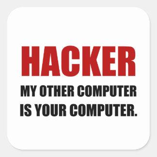 Adesivo Quadrado Cabouqueiro o outro seu computador