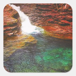 Adesivo Quadrado Cachoeira