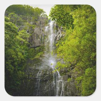 Adesivo Quadrado Cachoeira em Maui Havaí