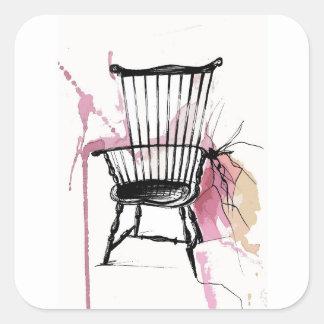 Adesivo Quadrado Cadeira de Windsor