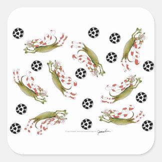 Adesivo Quadrado cães do futebol dos vermelhos