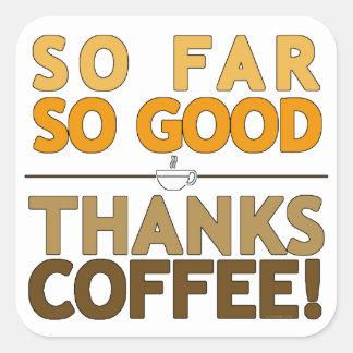 Adesivo Quadrado Café dos obrigados