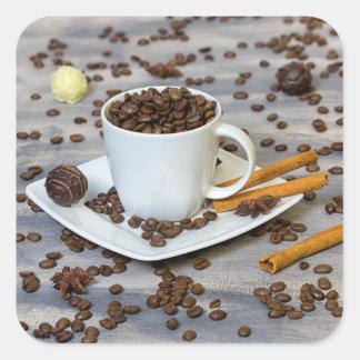 Adesivo Quadrado Café e especiarias