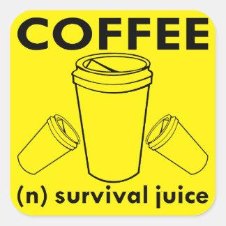 Adesivo Quadrado Café (n) suco da sobrevivência