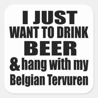 Adesivo Quadrado Cair com meu Tervuren belga