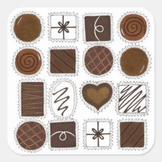 Adesivo Quadrado Caixa do amor dos doces do dia dos namorados dos