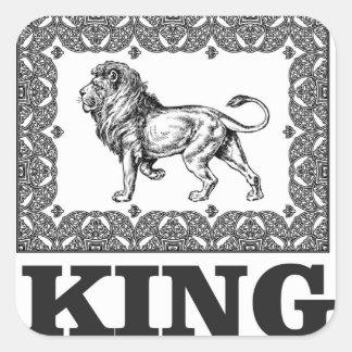 Adesivo Quadrado caixa do leão do rei