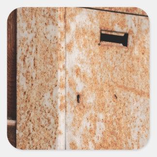 Adesivo Quadrado Caixa postal oxidada fora