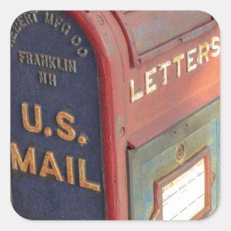 Adesivo Quadrado Caixa postal velha